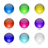 Color round buttons. Color round buttons  on white background Royalty Free Stock Photography