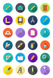 Color round design icons set Royalty Free Stock Image