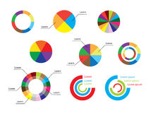 Color round diagrams - set of infographic - vector Royalty Free Stock Images