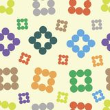 Color round elements seamless texture Royalty Free Stock Photo