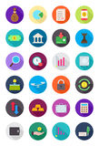 Color round finance icons set Stock Photography