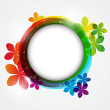 Color round frame Stock Photo