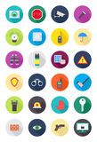 Color round guard icons set. Set of 24 color round guard icons Stock Photography
