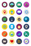 Color round Internet icons set Royalty Free Stock Image