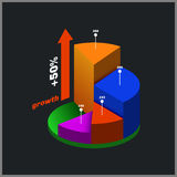 Color round isometric diagram, info graphic. Stock Images