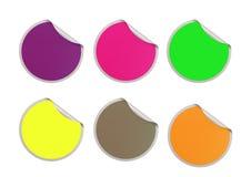Color round sticker Stock Photo