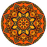 Color round symmetrical mandala. On white background vector illustration
