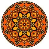 Color round symmetrical mandala Royalty Free Stock Photo