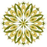 Color round symmetrical mandala Royalty Free Stock Photography