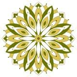Color round symmetrical mandala Royalty Free Stock Photography