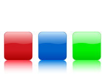 Color rounded squares buttons. Isolated on white background. Vector illustration Royalty Free Stock Image