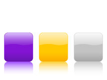 Color rounded squares buttons. Color rounded squares buttons, isolated on white background. Vector illustration Royalty Free Stock Photos