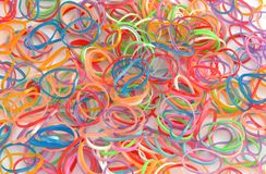 Color rubber. Fund gum colors, stacked side by side Stock Photos