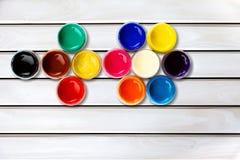 Color rullar Arkivfoto
