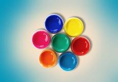 Color rullar Arkivfoton
