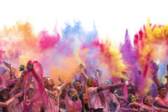 Color run. Activity in ShangHai.Very interesting and meanful stock images