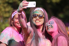 The Color Run Stock Photo