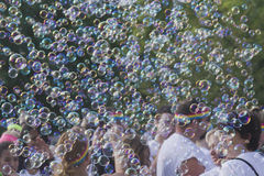 Color Run Bubbles Galore Royalty Free Stock Photography
