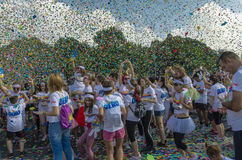 The Color Run Bucharest Royalty Free Stock Images