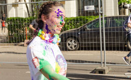 The Color Run Bucharest stock image