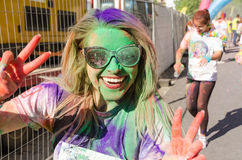The Color Run Bucharest royalty free stock image