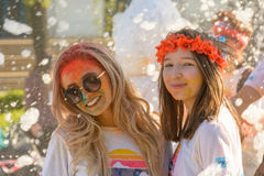 The Color Run. Bucharest, event from 22 Apr 2017 Royalty Free Stock Image
