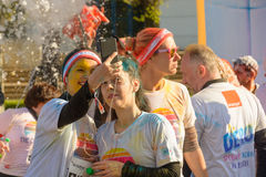 The Color Run. Bucharest, event from 22 Apr 2017 Stock Photography