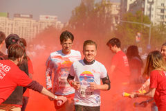 The Color Run. Bucharest, event from 22 Apr 2017 Royalty Free Stock Photo