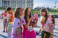 The Color Run Bucharest Stock Photo