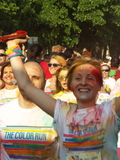 Color Run 2015, Bucharest Stock Image