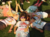Color Run 2015, Bucharest Stock Photos