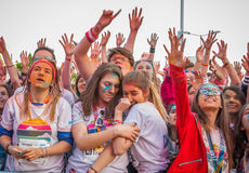 Color Run Bucharest 2017 Stock Photo
