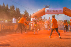 The Color Run Bucharest Royalty Free Stock Photos