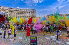 The Color Run Bucharest Stock Images