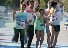 Color Run Bucharest Stock Photography