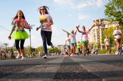 Color Run Bucharest Royalty Free Stock Image