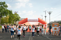 Color run Bucharest 2015 Royalty Free Stock Photography