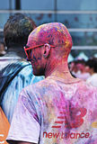 The Color Run. Carnival people in The Color Run GUANGZHOU Royalty Free Stock Photo