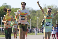 Color Run contestants running Royalty Free Stock Photography