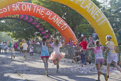 Color Run Finish Line Royalty Free Stock Photo