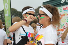 Color Run Hamburg 2014 Stock Photos