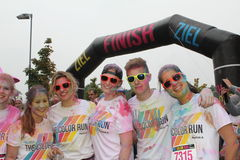 Color Run Hamburg 2014 Stock Photo