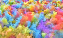 The Color Run Hero Tour Bucharest stock image