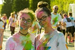 The color run hero tour 2018 royalty free stock photography