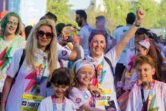 The color run hero tour 2018 royalty free stock photos