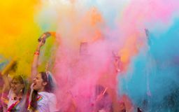 The color run hero tour 2018 royalty free stock image