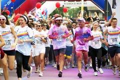 The Color Run - Italy Royalty Free Stock Photos