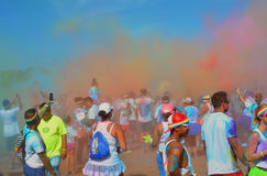 Color Run Kailua Kona, HI Stock Photo