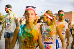 Color run, lido di camaiore ,Italy Stock Photos