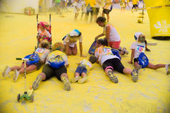 Color run, lido di camaiore ,Italy Royalty Free Stock Photos